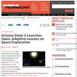 Arizona State U Launches Open, Adaptive Lessons on Space Exploration
