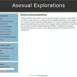 Asexual Explorations | Promoting the Academic Study of Asexualit