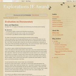 Explorations IE Award: Evaluation