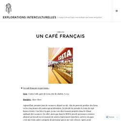 Un café français – Explorations Interculturelles