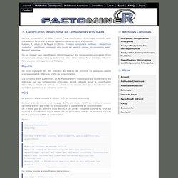 FactoMineR: analyse multivariée exploratoire de données avec R ; Classification Hiérarchique sur Composantes Principales (HCPC)
