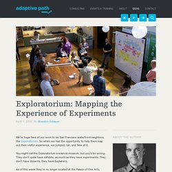 Exploratorium: Mapping the Experience of Experiments