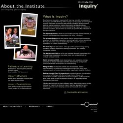 Exploratorium Institute for Inquiry: About the Institute