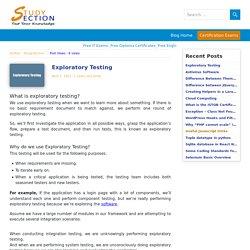 Why do we use Exploratory Testing - StudySection Blog