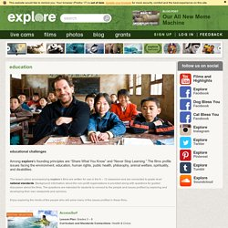 Education - explore - cultural and educational films and photos