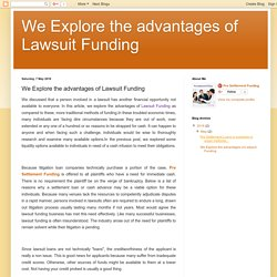 We Explore the advantages of Lawsuit Funding: We Explore the advantages of Lawsuit Funding