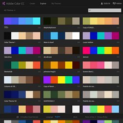 Trouver des thèmes de couleur : Adobe Kuler