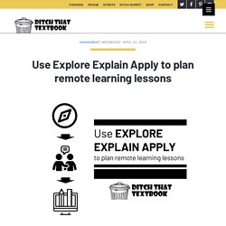 Use Explore Explain Apply to plan remote learning lessons