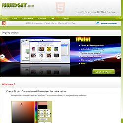 A site to explore HTML5 features: canvas, css3, offline storage ...