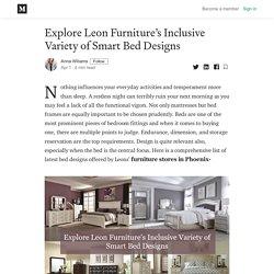 Explore Leon Furniture's Inclusive Variety of Smart Bed Designs