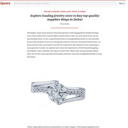 Explore leading jewelry store to buy top quality Sapphire Rings in Dubai