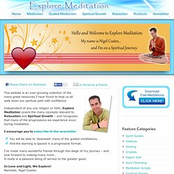 Free Guided Meditations for Relaxation and Spiritual GrowthExplore Meditation | Meditation and Spiritual Growth