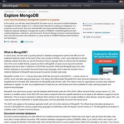 Explore MongoDB