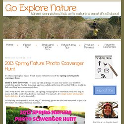 Spring Nature Photo Scavenger Hunt