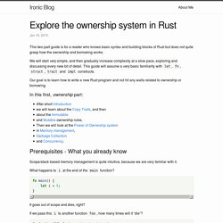 Explore the ownership system in Rust