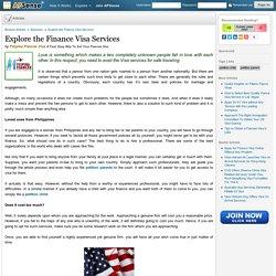 Explore the Finance Visa Services