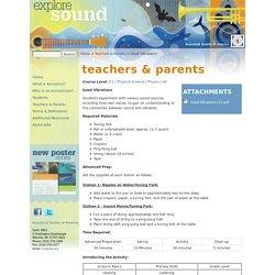 Explore Sound - Teachers & Parents