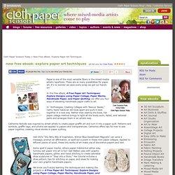Free Ebook: Explore Paper Art Techniques