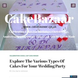 Explore The Various Types Of Cakes For Your Wedding Party