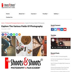 Explore The Various Fields Of Photography