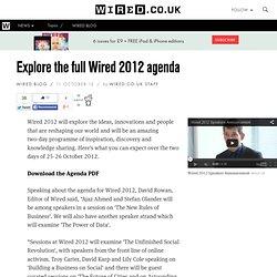 Explore the full Wired 2012 agenda - PDF download