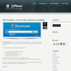Open Site Explorer - Un service SEO en ligne pour vos backlinks