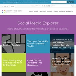 Social Media Explorer — Social Media Consulting, Public Speaking and Education