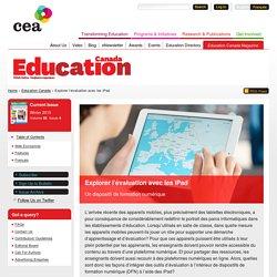 Explorer l'évaluation avec les iPad