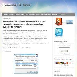 contenu des points de restauration système de Windows