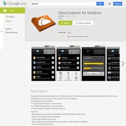 Cloud Explorer for SkyDrive