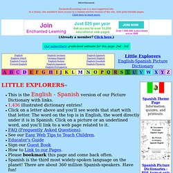 English-Spanish: LITTLE EXPLORERS by Enchanted Learning Software