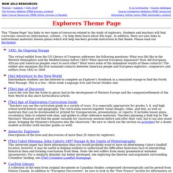 Explorers Theme Page