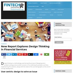 New Report Explores Design Thinking in Financial Services