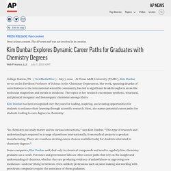 Kim Dunbar Explores Dynamic Career Paths for Graduates with Chemistry Degrees