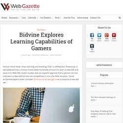 Bidvine Explores Learning Capabilities of Gamers