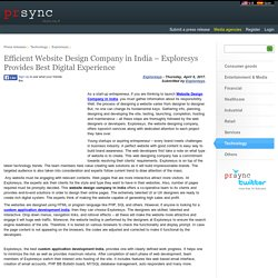 Efficient Website Design Company in India – Exploresys Provides Best Digital Experience