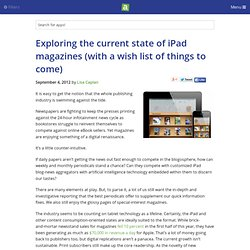 Exploring the current state of iPad magazines (with a wish list of things to come) - iPhone app article - Lisa Caplan