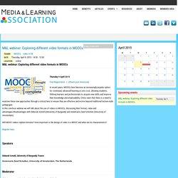 M&L webinar: Exploring different video formats in MOOCs