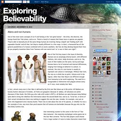Exploring Believability: Aliens and non-humans.