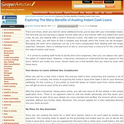 Exploring The Many Benefits of Availing Instant Cash Loans