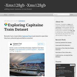 Exploring Capitaine Train Dataset - -Xmx128gb -Xms128gb