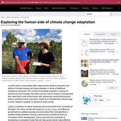 Exploring the human side of climate change adaptation