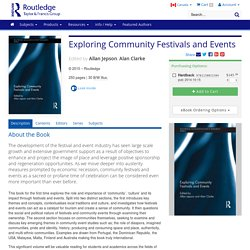 Exploring Community Festivals and Events (Hardback)