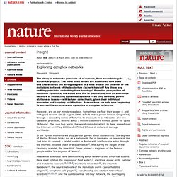 Exploring complex networks : Article : Nature