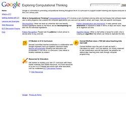 Exploring Computational Thinking