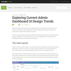 Exploring Admin Dashboard UI Design Trends