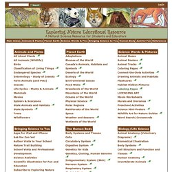 Main Index -- Exploring Nature Educational Resource -- A Natural Science Resource for Students and Educators