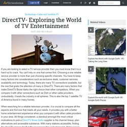 DirectTV- Exploring the World of TV Entertainment