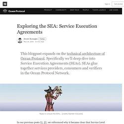 Exploring the SEA: Service Execution Agreements - Ocean Protocol
