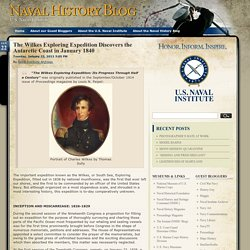 Naval History Blog » Blog Archive » The Wilkes Exploring Expedition Discovers the Antarctic Coast in January 1840